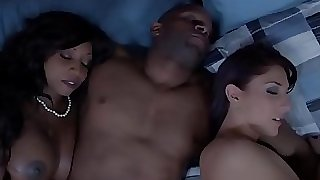 Dark-hued housewife and mate cum swapping